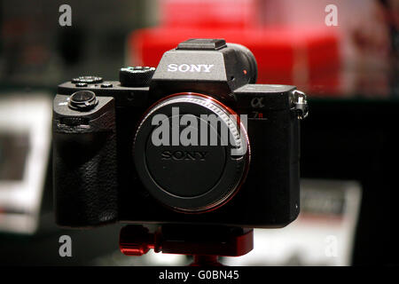 "Eine Kamera der Marke ""Sony"", Berlin. - Stockfoto"
