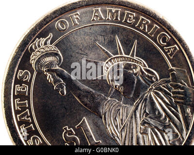 Ein Dollar Münze Statue Of Liberty Stockfoto Bild 90282208 Alamy