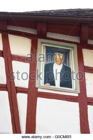 asymmetrische Haus-ich-Schorndorf - Stockfoto