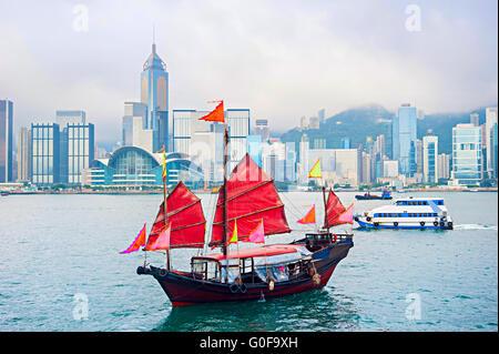 Berühmten Hong Kong Segelboot - Stockfoto