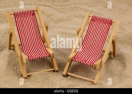 Liegestuhl am Strand - Stockfoto