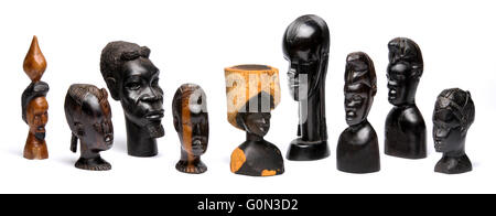 Afrikanische Holzkunst und Statuen - Stockfoto