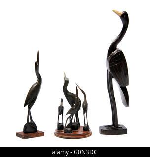 hölzernes Schnitzen der Vögel - Stockfoto