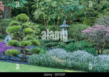 Japanischer Garten, Butchart Gardens, Brentwood Bay, in der Nähe von Victoria, Britisch-Kolumbien, Kanada - Stockfoto