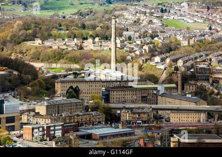 Stadtbild, von Dean Clough Mills, Halifax, Calderdale, West Yorkshire, UK - Stockfoto
