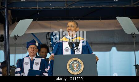 Washington DC, USA. 7. Mai 2016. Präsident Barack Obama spricht die graduierenden Klassen von 2016 an der Howard - Stockfoto