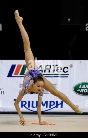 Brno, Tschechische Republik. 8. Mai 2016. Ekaterina AYUPOVA (RUS) tritt während der rhythmischen Gymnastik Junior - Stockfoto