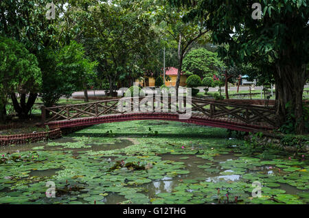 Taman Tasik Rekreasi Melati, Perlis, Malaysia. Tasik Melati ist ein Feuchtgebiet, das berühmt für seine Seen und - Stockfoto