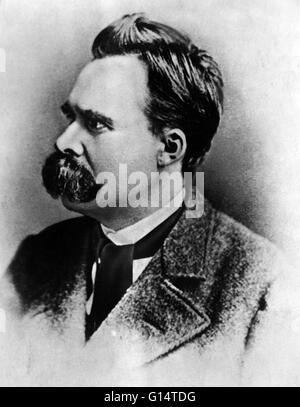 Friedrich Wilhelm Nietzsche (15. Oktober 1844 - 25. August 1900) war ein deutscher Philosoph, Dichter, Komponist - Stockfoto