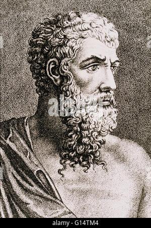 Aristoteles (384-322 v. Chr.) war ein griechischer Philosoph und Universalgelehrter, ein Schüler von Platon und - Stockfoto