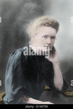 Marie Curie (1867-1934) war ein polnisch-französischer Physiker und Chemiker, die berühmt für ihre bahnbrechende - Stockfoto