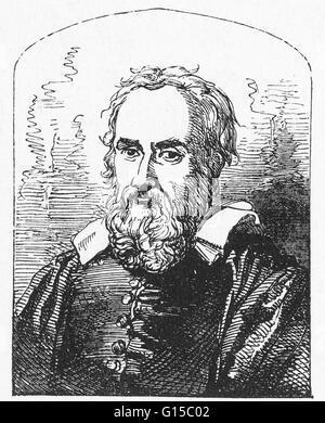 Galileo Galilei (15 Februar 1564 - 8. Januar 1642) war ein italienischer Physiker, Mathematiker, Astronom und Philosoph, - Stockfoto