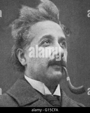 Albert Einstein (14. März 1879 - 18. April 1955) war ein deutschstämmiger theoretischer Physiker, der die allgemeine - Stockfoto
