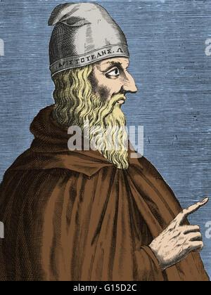 Aristoteles (384-322 v. Chr.) war der griechische Philosoph, Universalgelehrter, Schüler Platons und Lehrer Alexanders - Stockfoto