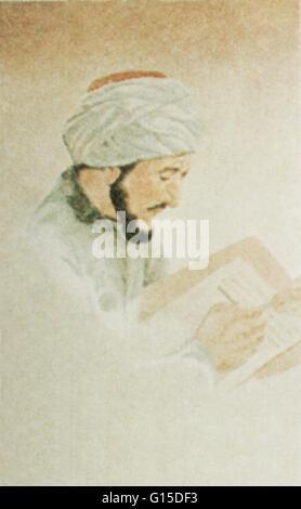 Abu ' Ali al-Husain ibn ' Abd Allah ibn Sina (980-1037), allgemein bekannt als Ibn Sina oder bei seinem Namen latinisiert - Stockfoto