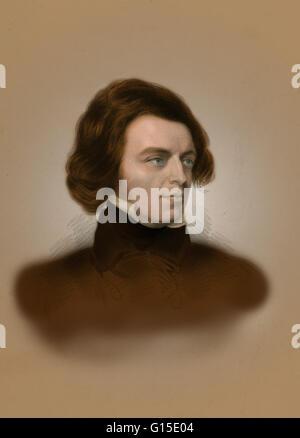 Alfred Tennyson, 1. Baron Tennyson (6. August 1809 - 6. Oktober 1892) war Dichter-Laureatus von Großbritannien und - Stockfoto
