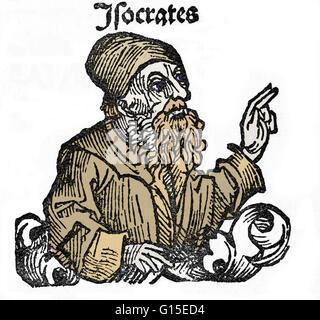 Sokrates (469-399 v. Chr.) war ein klassischer griechischer Athener Philosoph. Als einer der Begründer der abendländischen - Stockfoto