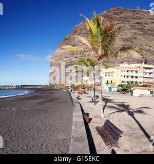 Strand von Puerto de Tazacorte, La Palma, Kanarische Inseln, Spanien, Europa - Stockfoto
