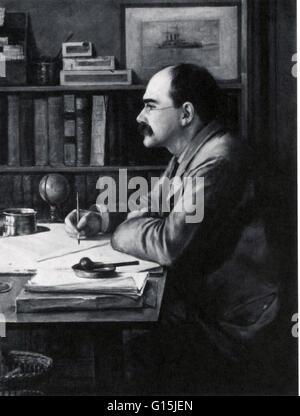 Joseph Rudyard Kipling (30. Dezember 1865 - 18. Januar 1936) war ein englischer Kurzgeschichten, Dichter und Schriftsteller. - Stockfoto