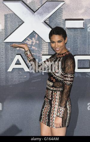 London, UK. 9. Mai 2016. Alexandra Shipp, globale Fan Screening-Gala der X-MEN Apokalypse am BFI IMAX in London. - Stockfoto
