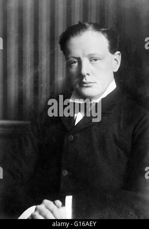 Bain-News-Service Foto von Churchill. Kein Datum auf Beschriftung Karte aufgezeichnet. Winston Leonard Spencer-Churchill - Stockfoto