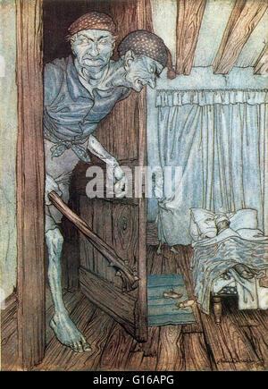 Jack der riesige Mörder ist eine britische Märchen über einen jungen, der eine Reihe von Riesen Regierungszeit König - Stockfoto