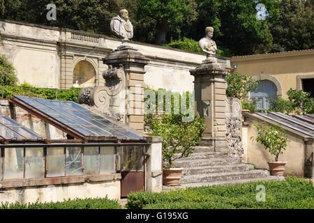 Villa di Castello (Villa Reale), in der Nähe von Florenz, Italien. 16c Land Zuhause von Cosimo de' Medici, berühmt - Stockfoto