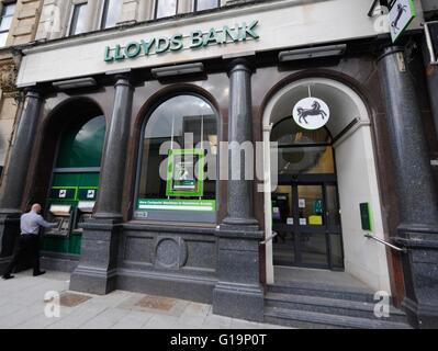 Bank, Banken, LLoyds, ATM, UK - Stockfoto