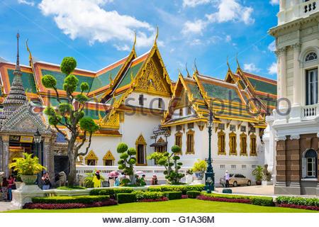 Phra Thinang Chakri Maha Prasat Thronsaal, Grand Palast, Bangkok, Thailand - Stockfoto