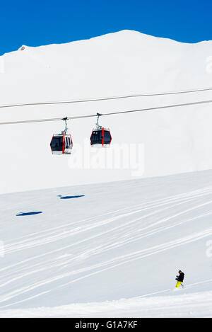 Eurasien, Kaukasus, Georgien, Skigebiet Gudauri - Stockfoto