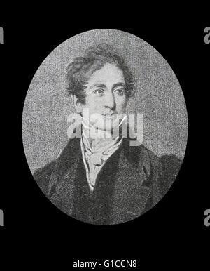 Porträt von Sir Robert Peel, 2. Baronet (1788-1850), britischer Staatsmann und Mitglied der konservativen Partei, - Stockfoto