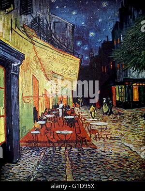 Vincent Van Gogh Cafe Terrasse Bei Nacht 1888 Ol Auf Leinwand