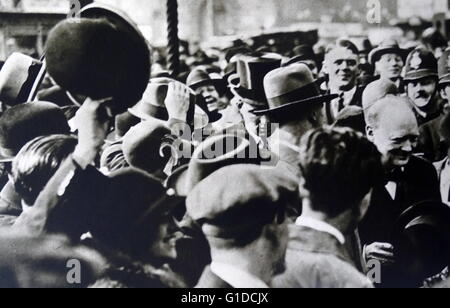 Sir Winston Churchill (1874 – 1965 britischer Staatsmann, Premierminister des Vereinigten Königreichs von 1940 bis - Stockfoto