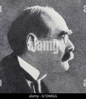 Fotografisches Porträt des Joseph Rudyard Kipling (1865-1936), ein englischer Journalist, Kurzgeschichten, Dichter - Stockfoto