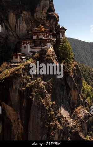 Blick auf Taktsang oder des Tigers Nest Kloster Paro-Tal-Bhutan Stockfoto