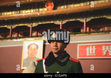 ROC Wache drausen der verbotenen Stadt in China - Stockfoto