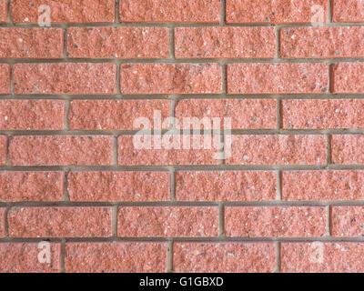 Textur der ideale roten Backsteinmauer hautnah - Stockfoto