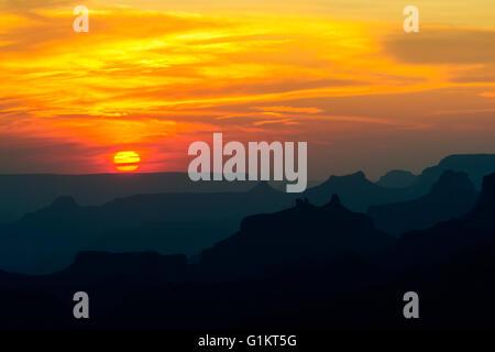Sonnenuntergang über Grand Canyon National Park, USA - Stockfoto