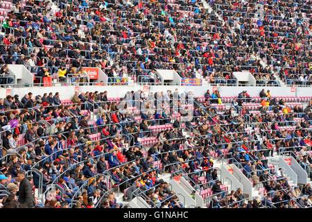 BARCELONA - FEB 21: Einen allgemeinen Überblick über das Stadion Camp Nou im Fußballspiel zwischen Futbol Club Barcelona - Stockfoto