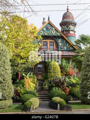 Brian Coleman House in der Königin-Anne Nachbarschaft-ein viktorianisches Haus in 2018 Nob Hill Avenue North in - Stockfoto