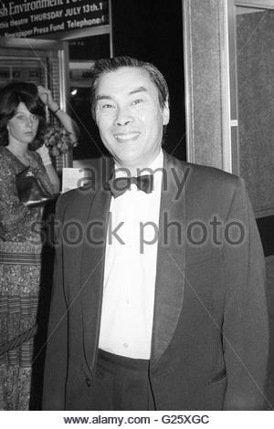 Foto vom 13.07.1978 Burt Kwouk Teilnahme an der Uraufführung von Revenge of the Pink Panther, als der Schauspieler - Stockfoto