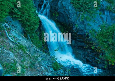 Oberen Narada Wasserfälle in Mt Rainier 1, WA, USA - Stockfoto