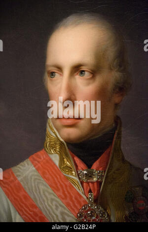 Johann Baptist Lampi der jüngere (1775 – 1837), Porträt von Kaiser Franz i. von Österreich (1768-1835), 1816. - Stockfoto