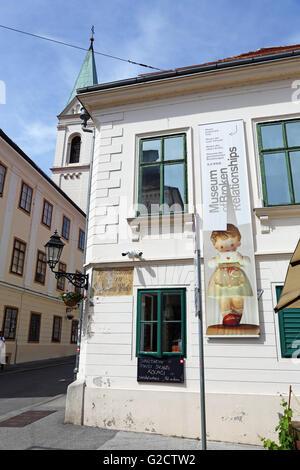 Museum der zerbrochenen Beziehungen in Zagreb, Kroatien - Stockfoto