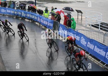 Aberystwyth, Wales, UK. 27. Mai 2016. Die Pearl Izumi Tour Serie professioneller Zyklus Rennen Freitag, 27. Mai - Stockfoto