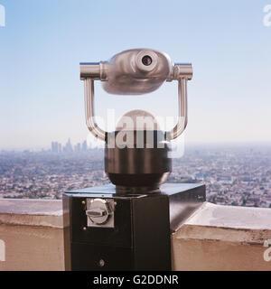 Malerische Sucher mit Skyline im Hintergrund, Los Angeles, Kalifornien, USA - Stockfoto