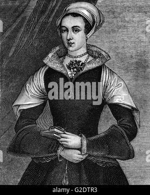 Lady Jane Grey auch bekannt als die neun-Tage-Königin war eine englische Adlige und de-facto-Herrscher von England - Stockfoto