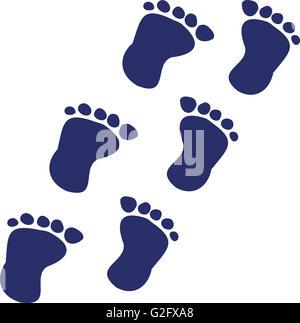 Baby Fußabdrücke in Folge - Stockfoto