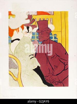 Henri de Toulouse-Lautrec-ein Engländer im Moulin Rouge - Museum of Fine Arts, Budapest - Stockfoto