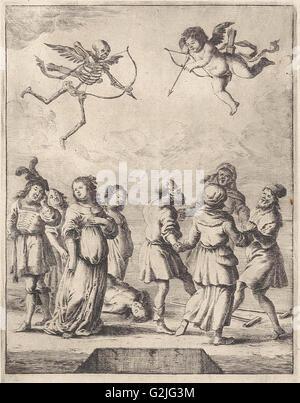 Fabel von Amor und Tod, Dirk Stoop, John Ogilby, 1665 - Stockfoto